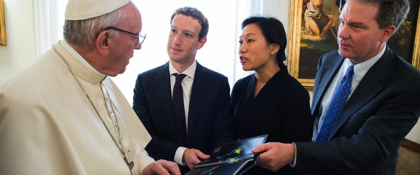 Facebook founder Mark Zuckerberg meets Pope Francis