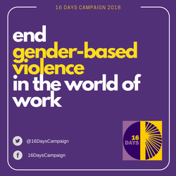16 Days of Activism Against Gender-Based Violence Campaign 2018